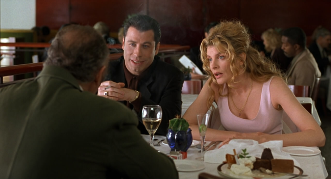 John Travolta & Rene Russo in Get Shorty