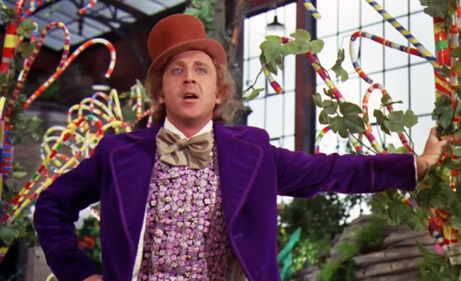 Gene Wilder in Willy Wonka & The Chocolate Factory