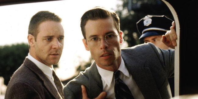 Russell Crowe & Guy Pearce in L.A. Confidential