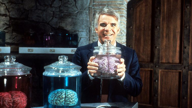 Steve Martin in The Man With Two Brains