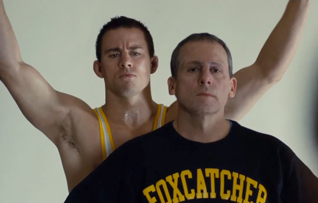 Channing Tatum & Steve Carell in Foxcatcher