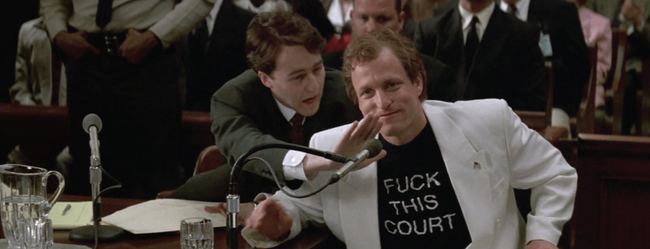 Edward Norton & Woody Harrelson in The People vs Larry Flynt