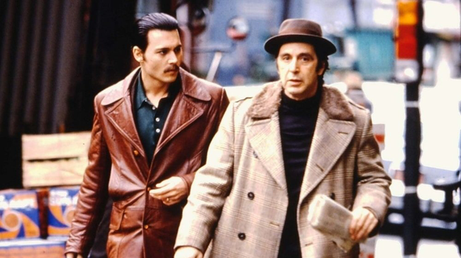 Johnny Depp & Al Pacino in Donnie Brasco