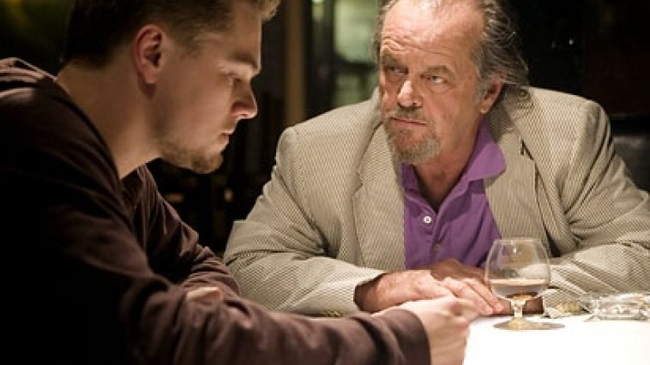 Leonardo DiCaprio & Jack Nicholson in The Departed