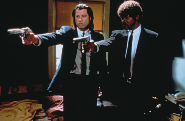 John Travolta & Samuel L. Jackson in Pulp Fiction