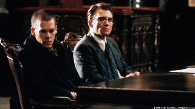 Kevin Bacon & Christian Slater in Murder in the First