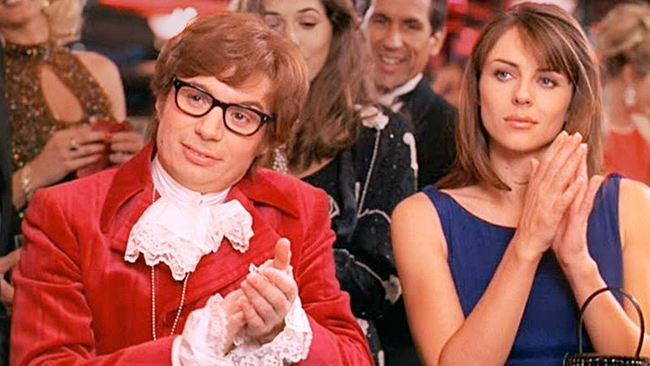 Mike Myers & Elizabeth Hurley in Austin Powers: International Man of Mystery