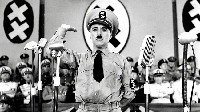 Charles Chaplin in The Great Dictator