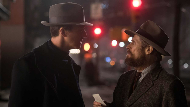Edward Norton & Willem Dafoe in Motherless Brooklyn