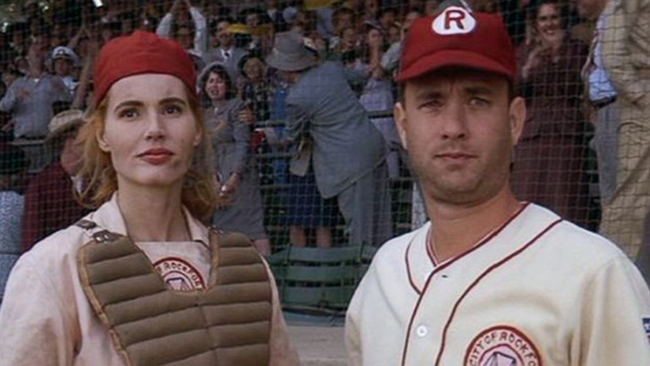 Geena Davis & Tom Hanks in A League of Their Own