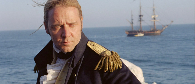 Russell Crowe in Master & Commander: The Far Side of the World