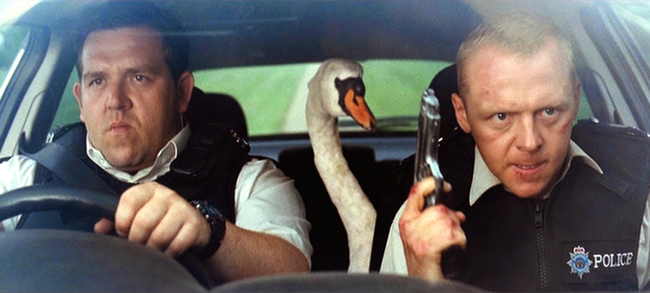 Nick Frost & Simon Pegg in Hot Fuzz