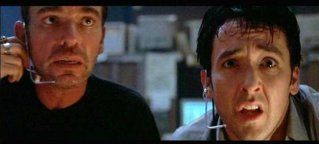 Billy Bob Thornton & John Cusack in Pushing Tin