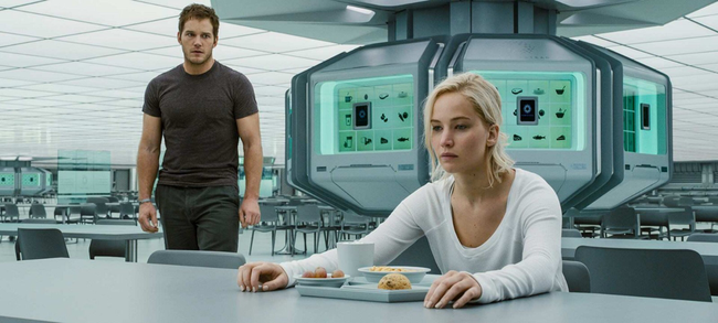Chris Pratt & Jennifer Lawrence in Passengers