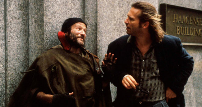 Robin Williams & Jeff Bridges in The Fisher King