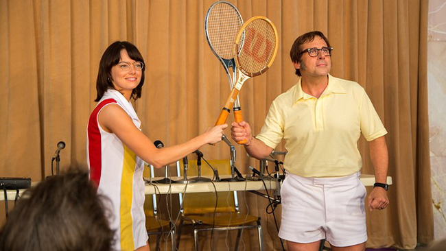 Emma Stone & Steve Carell in Battle of the Sexes