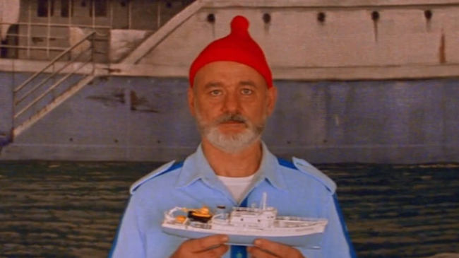 Bill Murray in The Life Aquatic with Steve Zissou