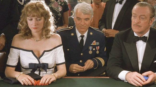 Glenne Headly, Steve Martin & Michael Caine in Dirty Rotten Scoundrels