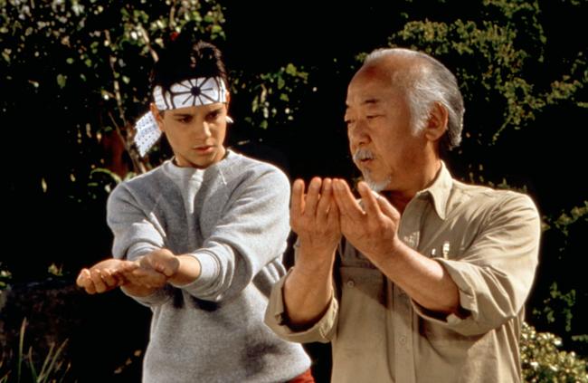 Ralph Macchio & Noriyuki 'Pat' Morita in The Karate Kid part III