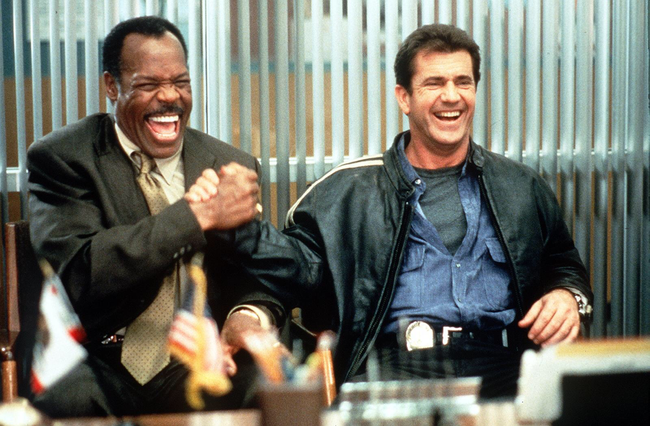 Danny Glover & Mel Gibson in Lethal Weapon 4
