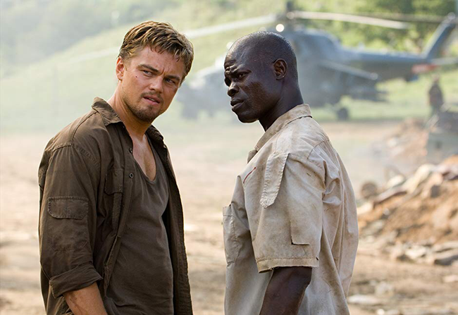 Leonardo DiCaprio & Djimon Hounsou in Blood Diamond