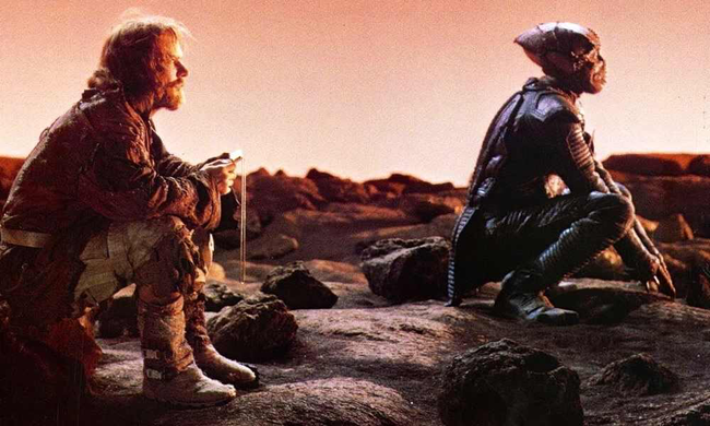 Dennis Quaid & Louis Gossett, Jr. in Enemy Mine