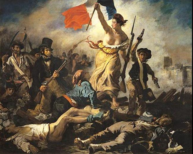 民衆を導く自由の女神、ドラクロア、超世界的名画