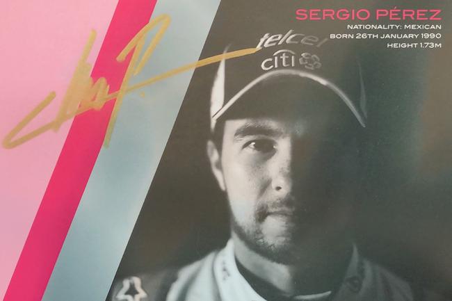Autograph Sergio Perez Autogramm