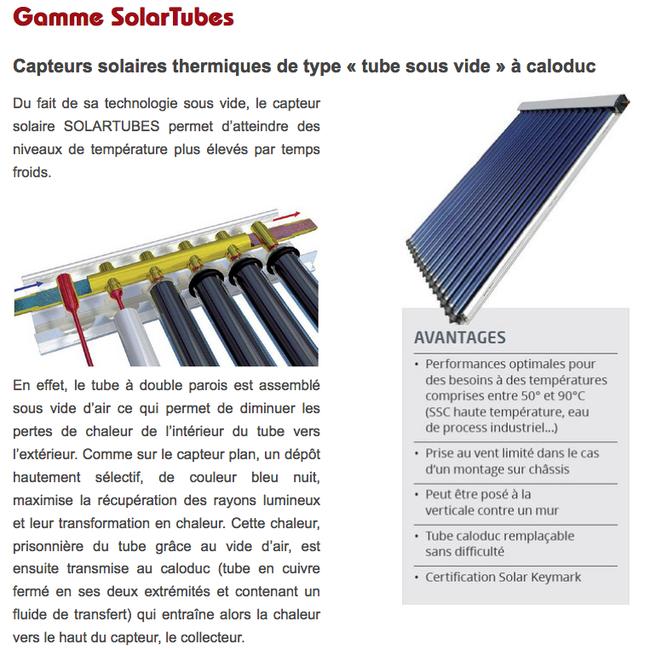 Panneau solaire - Capteur Infinity - Presso - Matic - Auto-vidangeable - Sous pression - Certification Solar Keymark - FK 7300 - FK 8200 - Solar Infinity Technologie