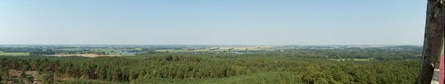 Panorama vom Aussichtsturm Götzer Berge Richtung Norden zur Havel