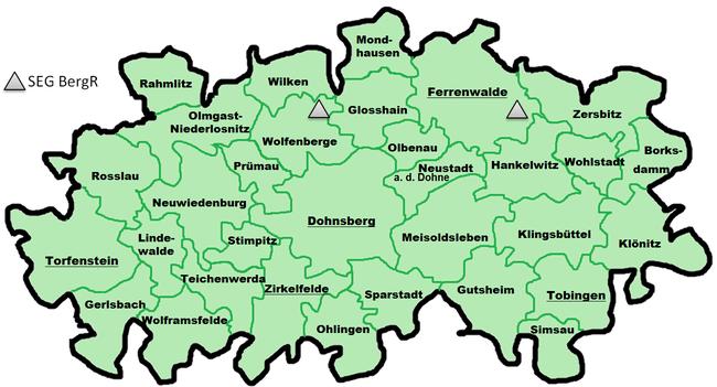 Standorte von Bergrettungsgruppen