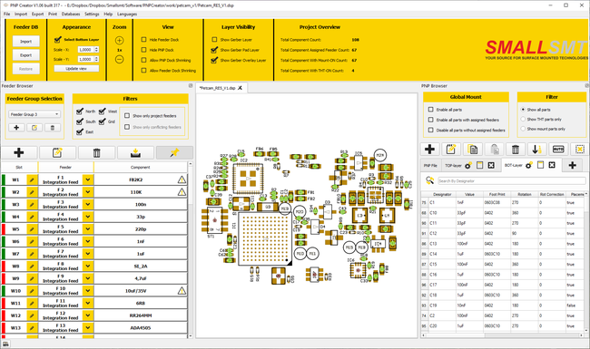 SMALLSMT PNP-Creator PNP Job preparation software
