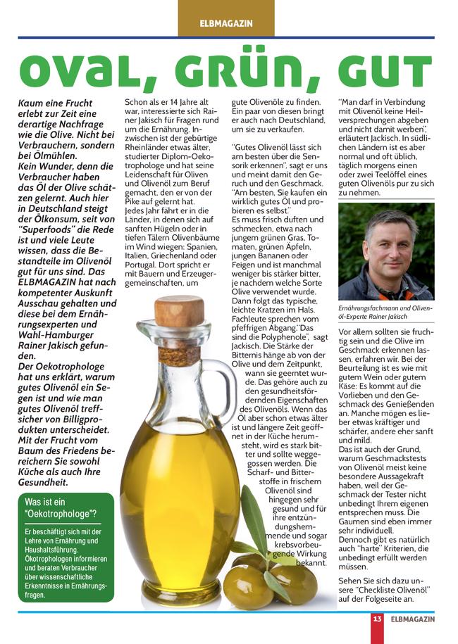 Elbmagazin November 2016 Olivenöle Bio Olivenöl Olivenölcheckliste Checkliste Olivenöl Test Olivenöl Test Olivenöle