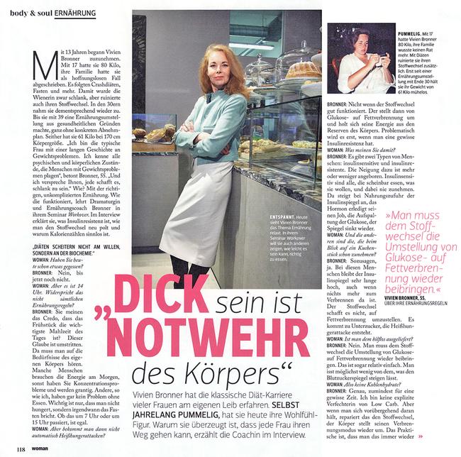 Vivien Bronner Zeitschrift Woman