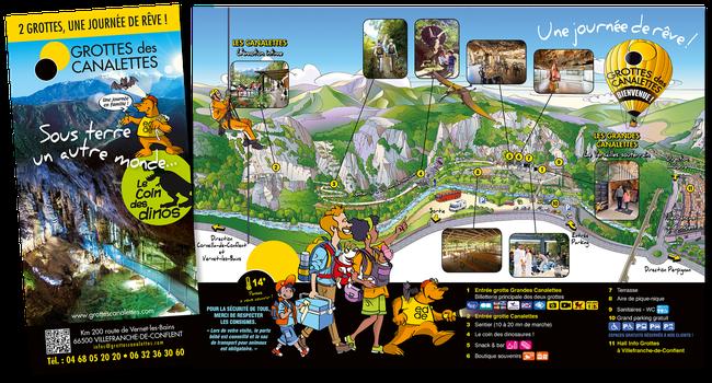 Cartographie touristique illustrée