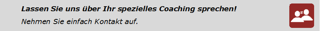 Coaching muss aus Sie zugeschnitten sein! Reden wir über Ihre Ziele im Verkauf.