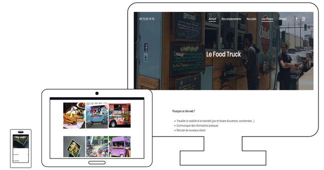 création site web pour Food truck