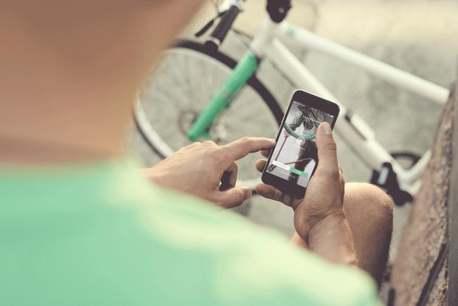 Radsuche per Smartphone