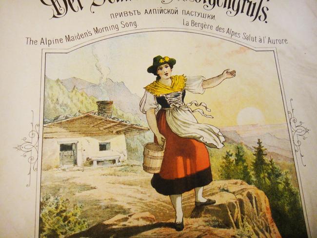 Альпийская пастушка, старинные ноты, фото обложки