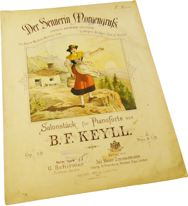 Привет альпийской пастушки, Борис Кейль, нотная обложка, фото