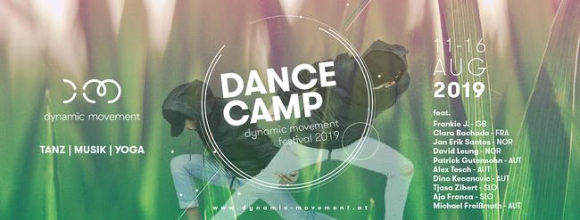 Das Dance Camp 2019 ist das Herzstück des Dynamic Movement Festival 2019 in Cap Wörth bei Velden am Wörthersee! Workshops in HipHop, Contemporary, Yoga, House, New Style, Afro, Flowing, Commercial,  uvm! Genieße deinen Sommer mit uns am Lebensfest 2019 :)
