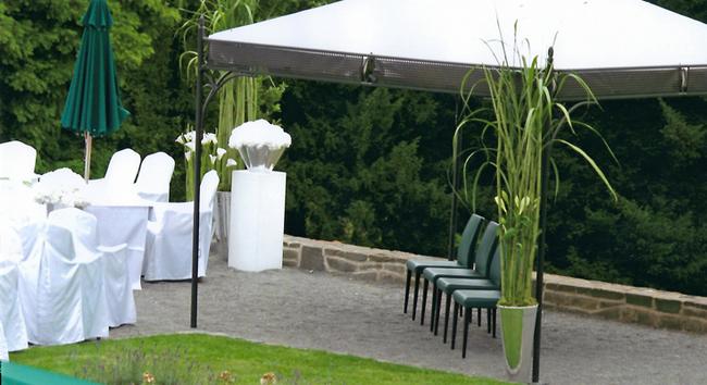 Florales Design im Außenbereich