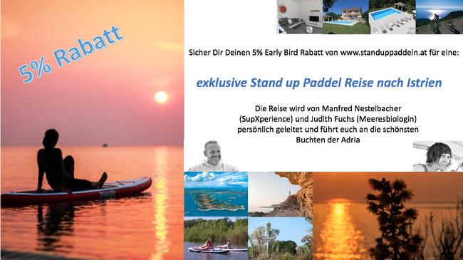 Exklusive Stand up Paddel Reise nach Istrien. Sup Reise, Sup Urlaub, Sup Tours
