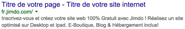 Organisation des titres sur Google