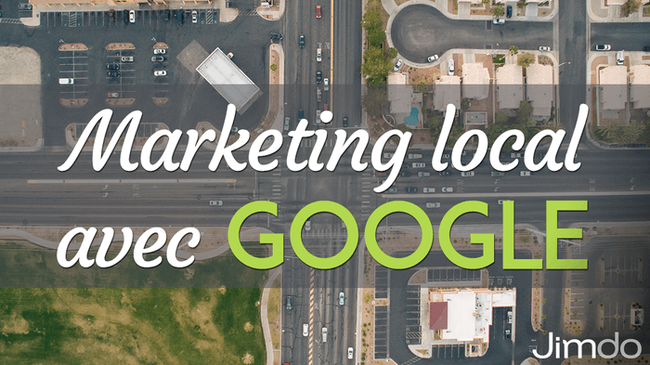"Capture d'écran de Google Maps portant la mention ""Marketing local avec Google""."