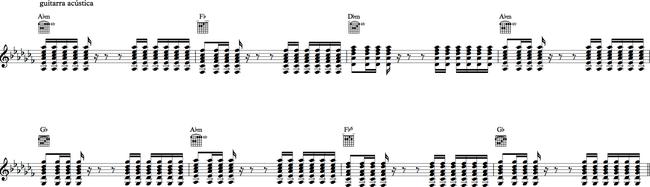 Sección H - guitarra rítmica