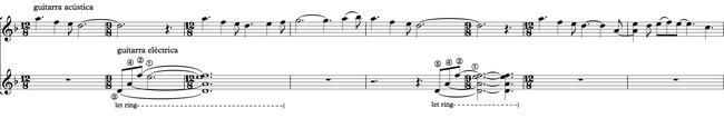 Sección A - primera melodía de la guitarra acústica