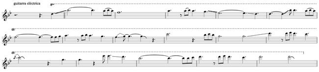 Sección B - melodía principal
