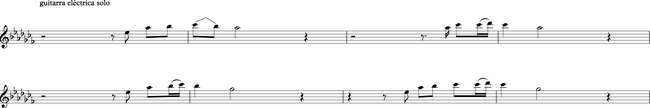 Sección H - solo de guitarra