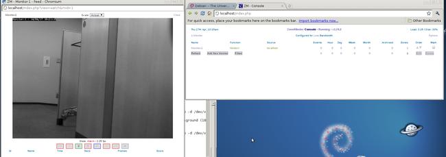 """文字がグリーンとなり、""""Monitor-1""""を押すと映像がみることができる"""